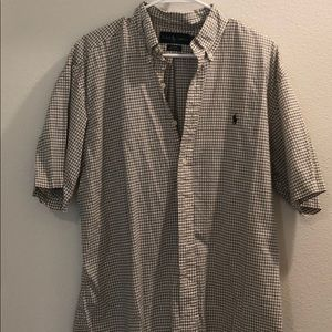 Black and white Ralph Lauren Polo shirt. Size L